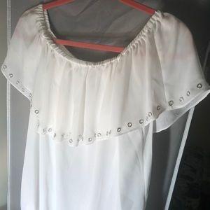 Michael Kors chiffon off shoulder blouse